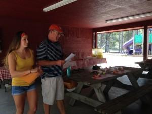 Becky and Bob Kalton handing out the prize money!