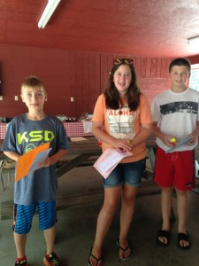 Bass winners Parker, Grace and Cooper